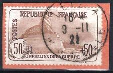 """FRANCE STAMP TIMBRE N° 153 """" ORPHELINS GUERRE 50c+50c LION"""" OBLITERE TTB  M799"""