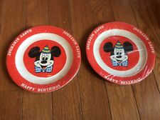 Vintage Disney Mickey Mouse Paper Plates Party Birthday Cake 12 Plates