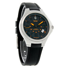 Victorinox Swiss Army 241464 Base Camp Black Orange Dial Mens Watch $350 NEW