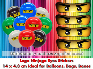 Ninja Eyes Large Birthday Party Decoration Stickers Sweet Cones Bags Balloons