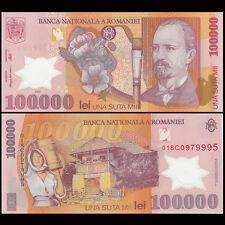 Romania 100000 100,000 Lei, 2001, P-114a, Polymer, UNC