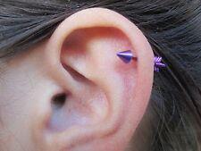 """Arrow Cartilage Stud Body Piercing Earring 18G 5/16"""" (8mm)"""