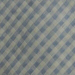 White Blue Plaid CARDIN Linen Silk Tie