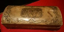Antique Vintage Italian Wooden Jewelry Box Fausti e Marini MADE IN ITALY Cherubs