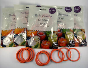 Fowlers Vacola Preserving Rings Size 3, BULK 5 Packs of 12 Rings NEW