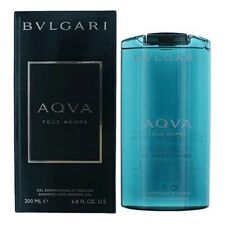 Bvlgari Aqva pour Homme 6.8 oz Shampoo and Shower Gel for Men New in Box