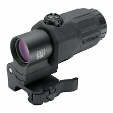 Magnifier Scope Optic 3X G33 Airsoft Softair weaver flip with logo Eotech Black