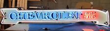 "New Chevrolet Auto Sales Arrow Single-Sided Enamel Neon Sign 8 FT W x 18"" H"