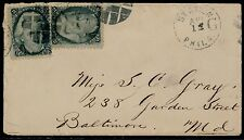 #73 (x2) ON SMALL COVER W/ PHILA. STATION G CDS TO BALTIMORE, MD BQ6418