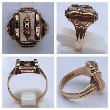 Class Ring 10K 416er Gold Herff Jones High School M 1964 College Ring Goldring