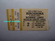 Hiroshima / Ronnie Laws 1988 Concert Ticket Stub Ohio Theatre Columbus Very Rare