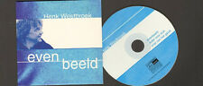 HENK WESTBROEK 3 track NEW CD SINGLE Evenbeeld Ieder Voor Zich Het Goede Doel