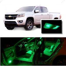 For Chevy Colorado 2015 Green LED Interior Kit + Green License Light LED