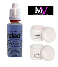Flüssigkeit acryl Nded 35ml + 2 pulver acrylmalerei Klar / transparent und Rosa
