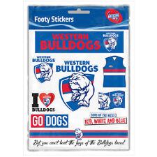 Western Bulldogs AFL LOGO Car Sticker Sheet School Books Christmas Birthday Gift