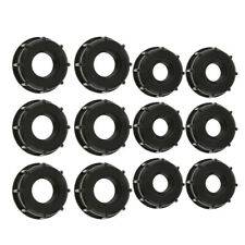 12PCS 1000L IBC Water Tank Adapter 60mm Coarse Thread Outlet 3/4, 1inch