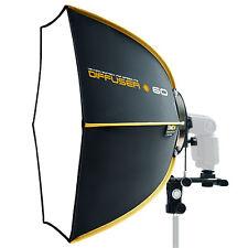"""NEW SMDV Softbox Hexagon Diffuser 60 23"""" for Speedlight Speedlite Quantum Flash"""