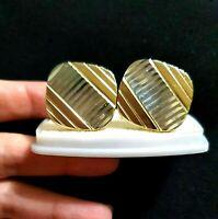 Luxury Vintage Metal Cufflincks Mix Gold Tone & Silver Tone Men's Jewelry