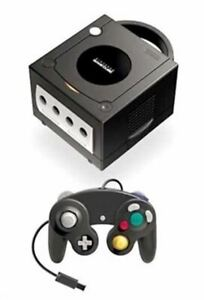 Authentic Refurbished Nintendo GameCube (Black) w/New Controller *Cosmetic Flaw*