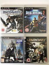 PS3 Game Bundle - Destiny + Legendary + Space Marine + Dead Rising 2 - (737)