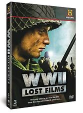 History Channel - WWll LOST FILMS - WORLD WAR 2 - Soldiers - Fighting - 3 x DVDs