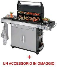 BARBECUE A GAS ANTIFUMO CAMPINGAZ 4 SERIES RBS LXS - FORNELLO LATERALE + OMAGGIO