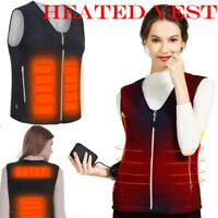 Electric Heated Vest Jacket Warm Up Heating Pad Cloth Body Warmer Men/Women