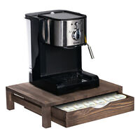 36 Pod Nespresso Coffee Machine  Wood Stand & Capsule Storage Holder Drawer
