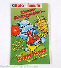 duplo und hanuta Riesenstickerposter Ferrero 1999 Happy Hippo Dream Team Werbung
