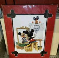 Disney Parks MICKEY MOUSE SELF PORTRAIT Deluxe Art Print Charles Boyer NEW WALT