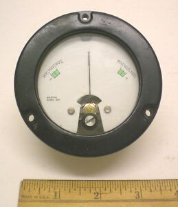 """Sealed Mil.DC Milliamp Meter WESTON # 2531, 1.1-0-1.1MA, 3 1/2"""" New Made in USA"""