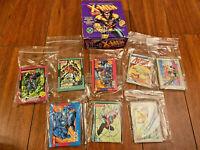 1992 Impel Marvel Uncanny X-Men/DC Comics Cards Purple WOLVERINE Box Lot of 158