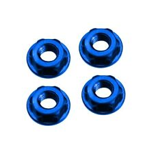 JConcepts 2156-1 Low Profile 4mm Locking Wheels Nut Blue (4)