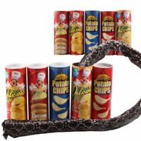 1pc Random Color Tricky Toy Potato Chip Fake Snake Jump Joke Prank Halloween Toy
