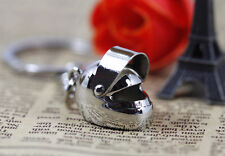Creative Motorcycle Bicycle Helmet Key Chain Ring Keychain Keyring Fob Pendant