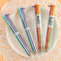 6 in 1 Color Ballpoint Pen Multi-color Ball Point Pens For School Office