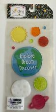 NEW Gel Window Cling 11 ct Explore Dream Discover Earth Solar System educational