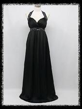 dress190 Black Chiffon Sparkle Halter Long Maxi Party Prom Evening Dress 24-26