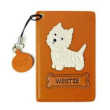 Westie Hound Handmade Dog Leather Commuter ID Pass Card Holder *VANCA* #26492