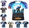 Marvel Avengers 4 Endgame Women Men T-Shirt 3D Print Short Sleeve Tee Tops