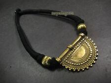N4973 Handmade Ethnic Tribal NAGA Brass gypsy Bone Choker Pendant NECKLACE TIBET