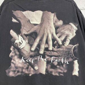 Vintage Bon Jovi Keep The Faith Double Sided Black T-shirt sz XL 1992 BROCKUM