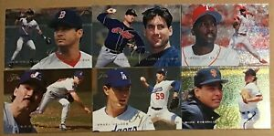 1995 FLEER FLAIR BASEBALL 6 CARD LOT #14,34,90,157,166,210