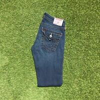 Vintage TRUE RELIGION JOEY Flare Womens Jeans 27 x 30 Dark Wash | Y2K USA