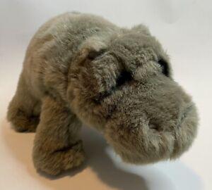 Vintage Plush Dakin Lou Rankin Thurgood House Hippo Stuffed Animal Gray Soft