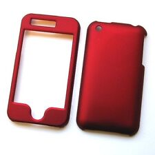 Hard Rubberized Case for iPhone 3G / 3GS - Red