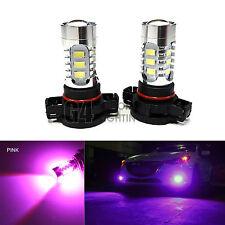 2x H16 5202 LED Bulbs High Power DRL SMD 5730 Fog Light Projector Bulb Pink