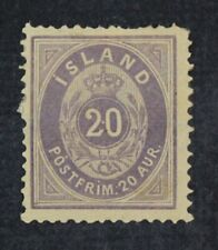 CKStamps: Iceland Stamps Collection Scott#13 Mint H OG