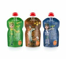 SQUIZ - 3 Gourdes Réutilisables Le Petit Prince 130ml pour compotes et purées