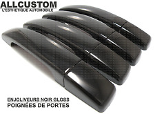 BLACK EXTERIOR SIDE DOOR HANDLE COVERS CAPS for LAND ROVER DISCOVERY 3 LR3 04-09